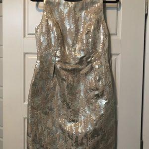 Tina Turk Metallic Dress .  Size 6 NWT